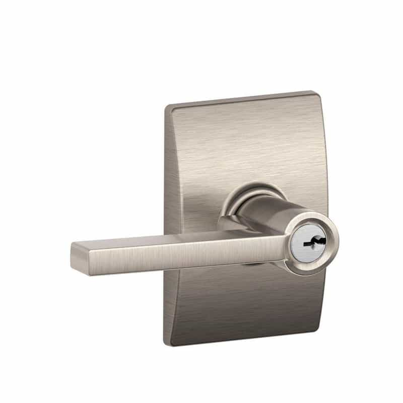 Century Collection Latitude Keyed Entry Lever, Satin Nickel