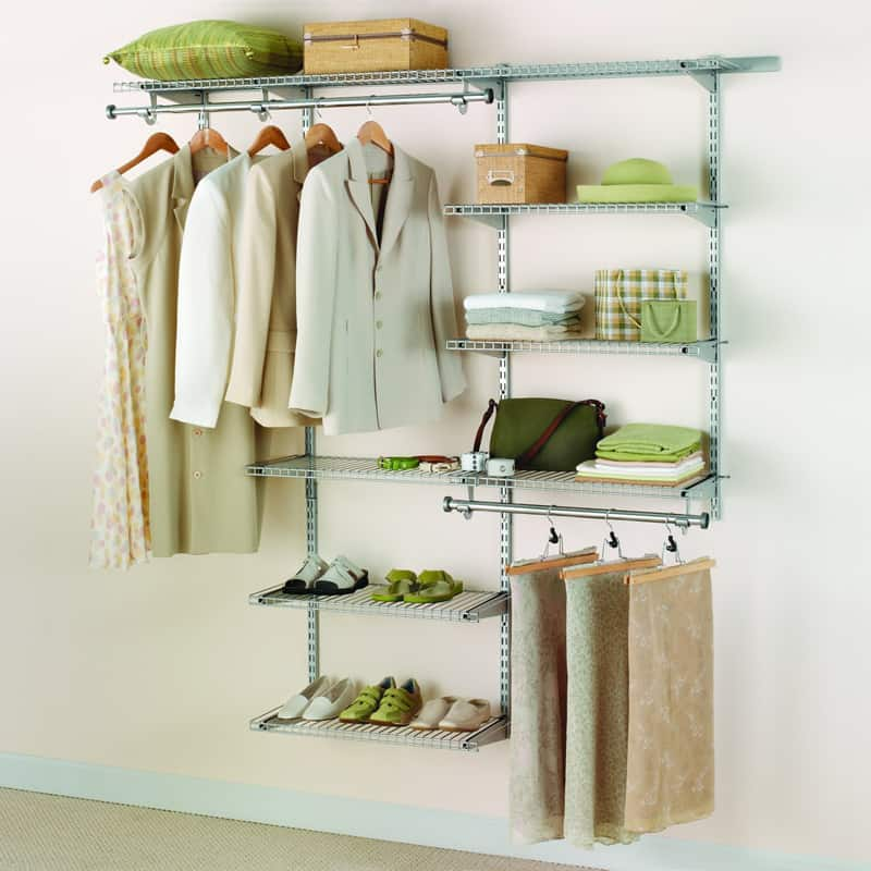 Rubbermaid Configurations Add On Shelving And Hanging Clothes Kit $35.79