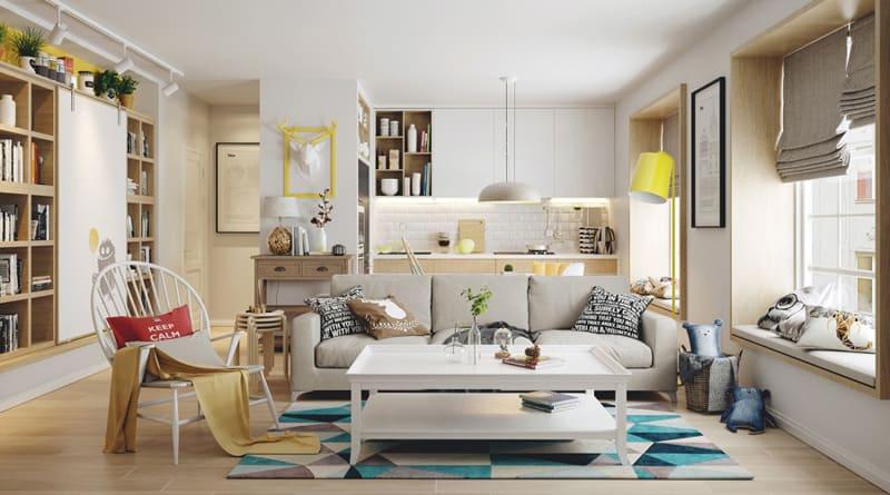Bright interiors that show off the beauty of nordic for Arredamenti per case piccole