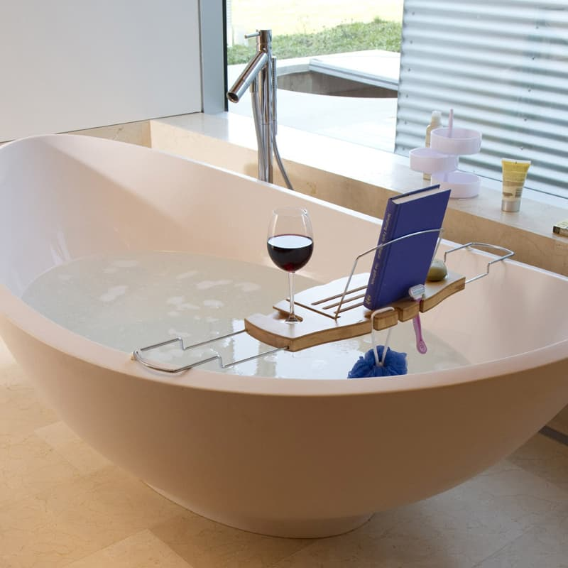 5 Bamboo Bathtub Caddies that You Can Buy Right Now!