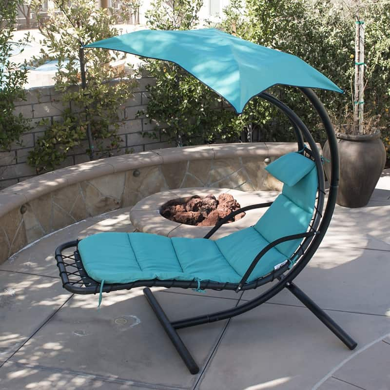 1 Hanging Chaise Floating Swing Chaise Lounge Chair Hammock Lounger