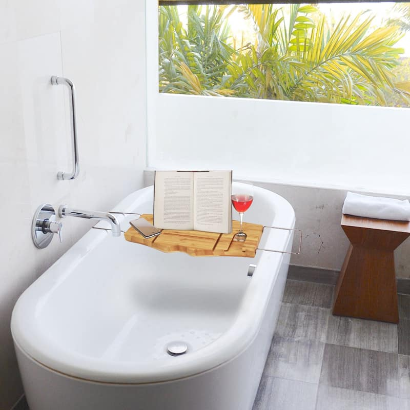 5 bamboo bathtub caddies that you can buy right now for Where can i buy a bathtub