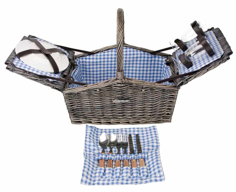 Zelancio Deluxe Wicker Picnic Basket