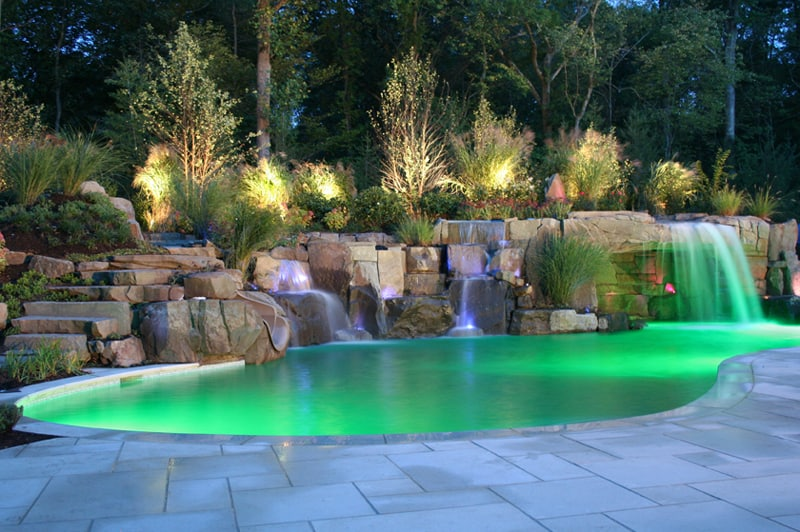 30 beautiful swimming pool lighting ideas for Pool design 2016