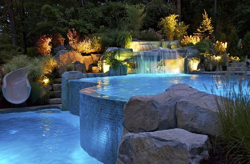 30 beautiful swimming pool lighting ideas pool lights designrulz 4 aloadofball Gallery