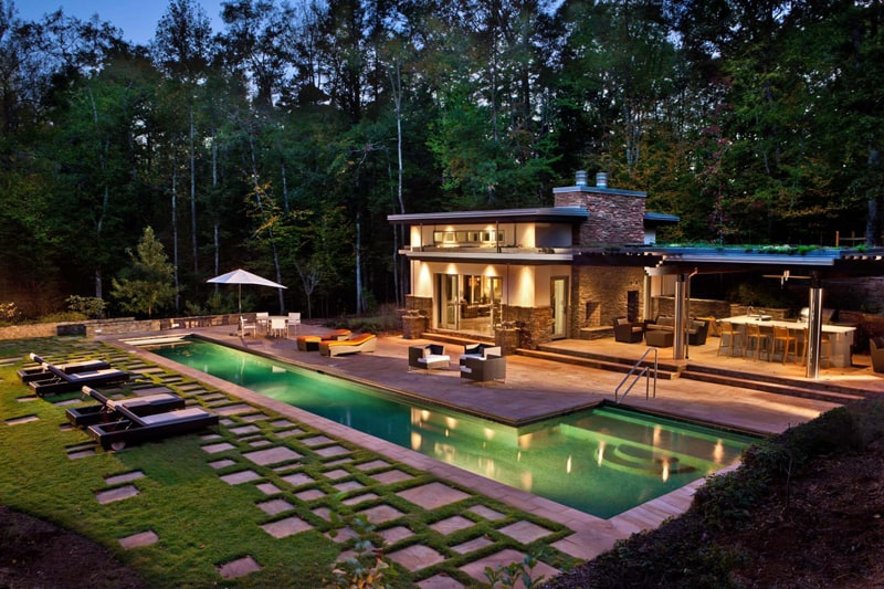 cute modern pool houses. designrulz Pool house contemporary patio  1 33 Houses with Contemporary Patio