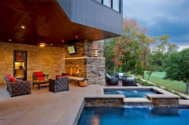 33 Pool Houses with Contemporary Patio