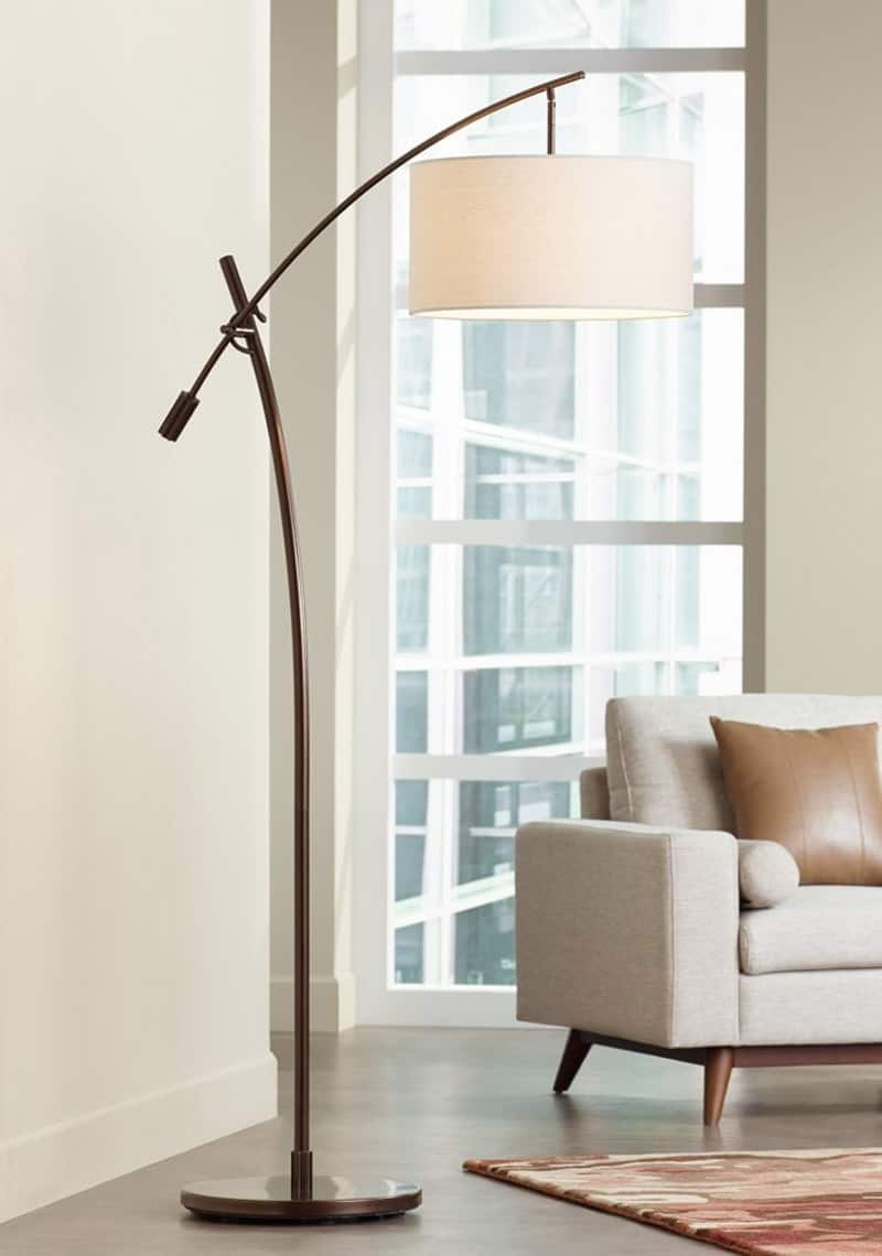 20 modern floor lamps that you can buy right now franklin iron work marlowe woven bronze metal floor lamp mozeypictures Image collections