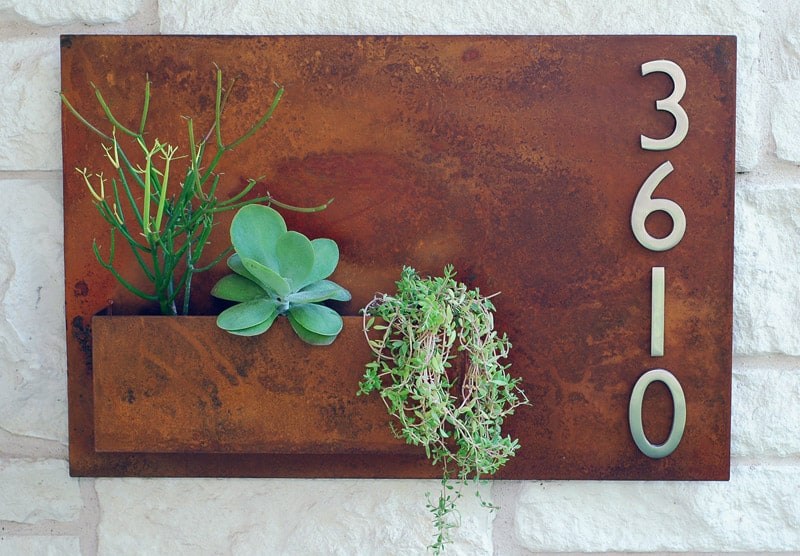 Ideas Of Catchy Contemporary House Numbers - Contemporary house numbers