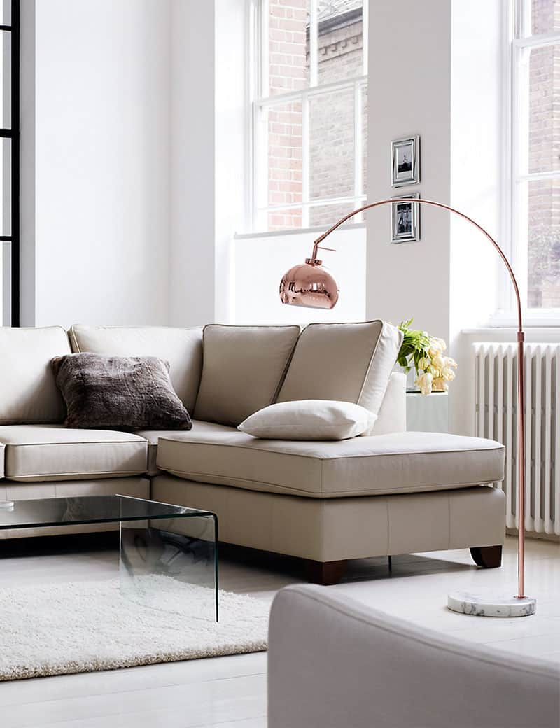 Living Room With Arco Floor Lamp Living Room With Arco Floor Lamp