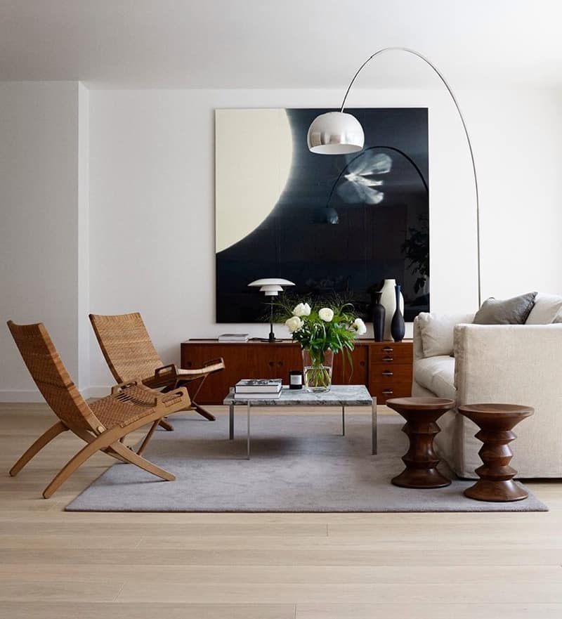 modern living room lamps. arco floor lamp Arco Floor Lamp Gives Your Living Room A Modern Look
