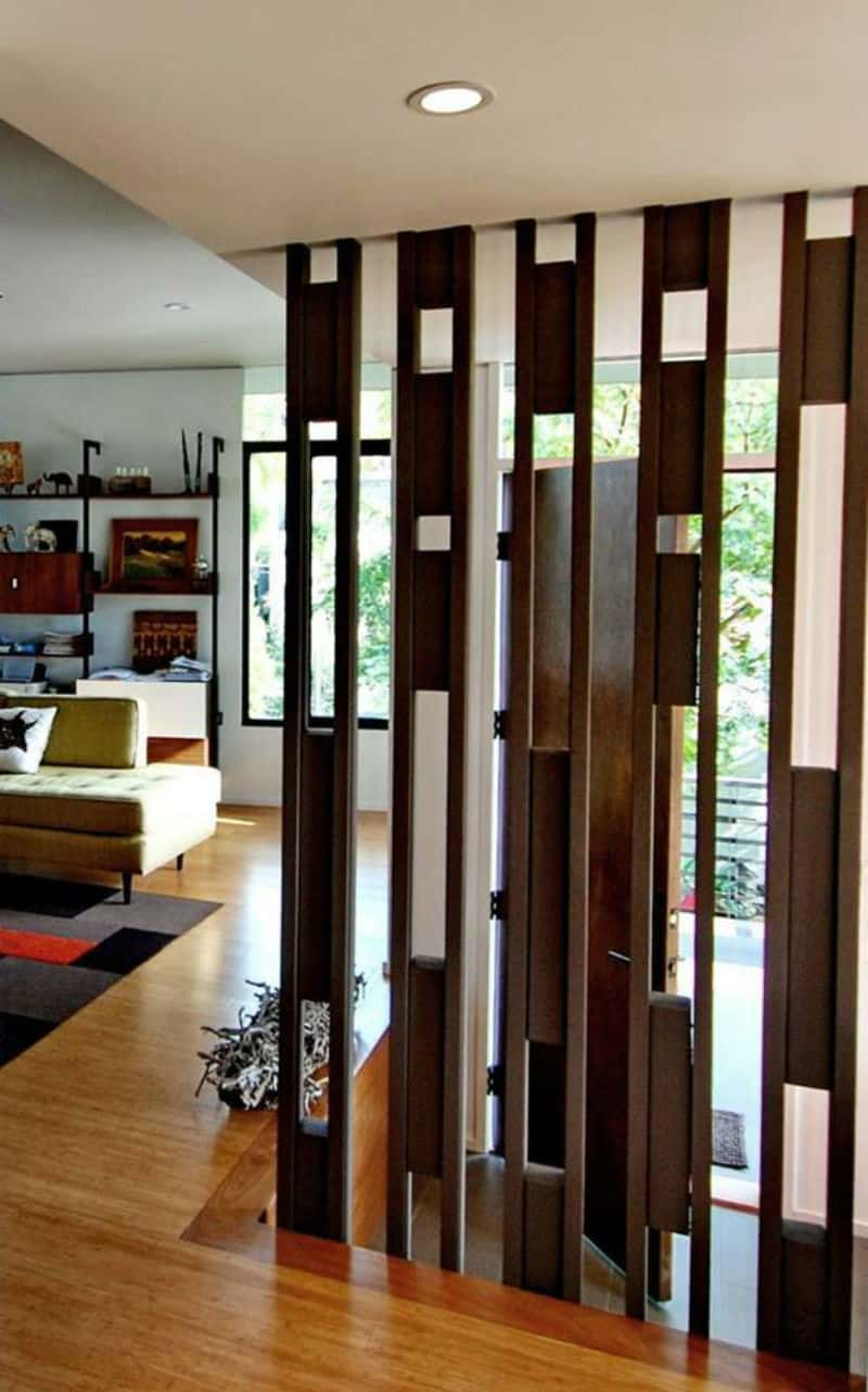 30 wood partitions that add aesthetic value to your home for Interior design partition wall
