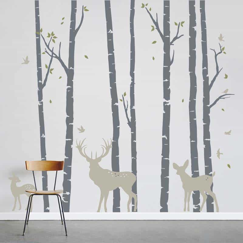 Birch Tree Wallpaper Bathroom Accent Wall: Birch Trees Wallpapers Add A Natural Touch To Your Home