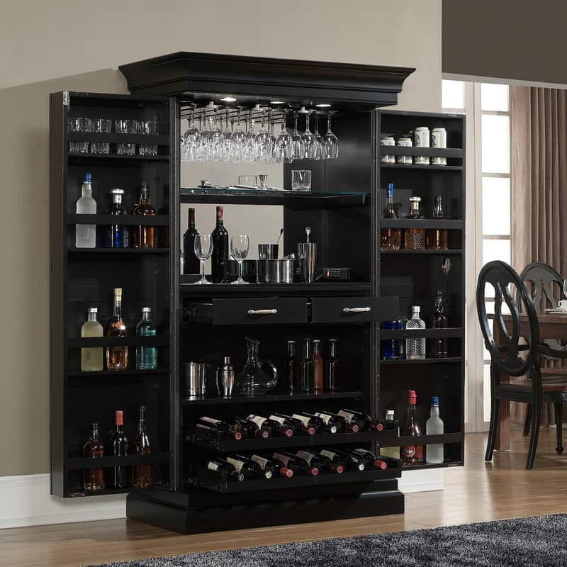 Black Home Bar Furniture: 50 Wine Cooler Ideas For Any Style And Space