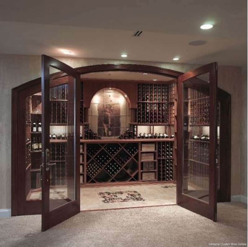 48 Wine Cooler Ideas For Any Style And Space Custom Home Wine Cellar Design Ideas