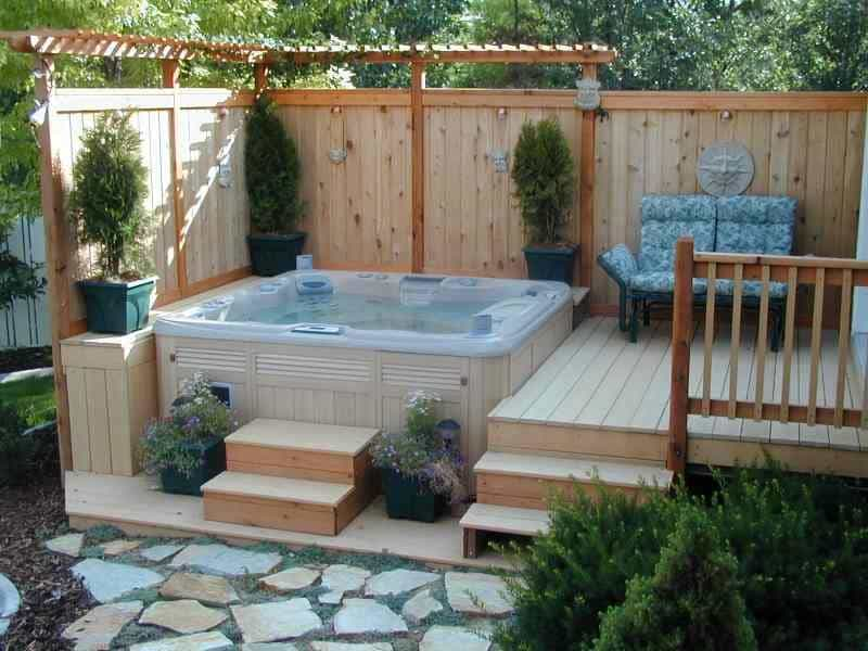 30 stunning garden hot tub designs for Pool design tv show