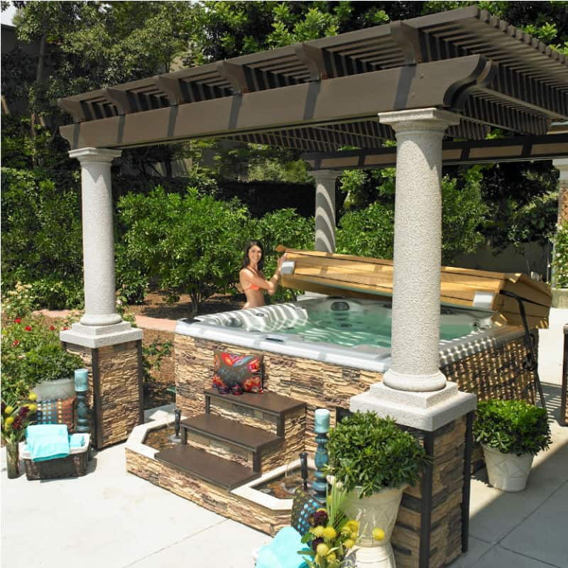 30 stunning garden hot tub designs for Stunning garden designs