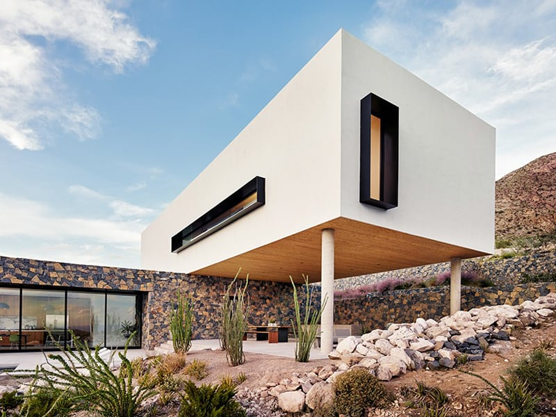 Modern Mountain Home On The Slopes Of The Franklin Mountains