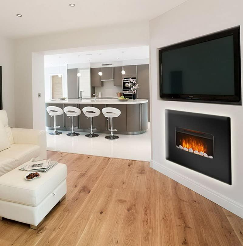 Electric Fireplace Adds Romanticism To Your Living Room