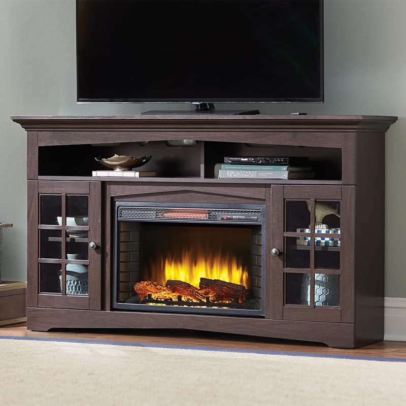 electric fireplace adds romanticism to your living room. Black Bedroom Furniture Sets. Home Design Ideas