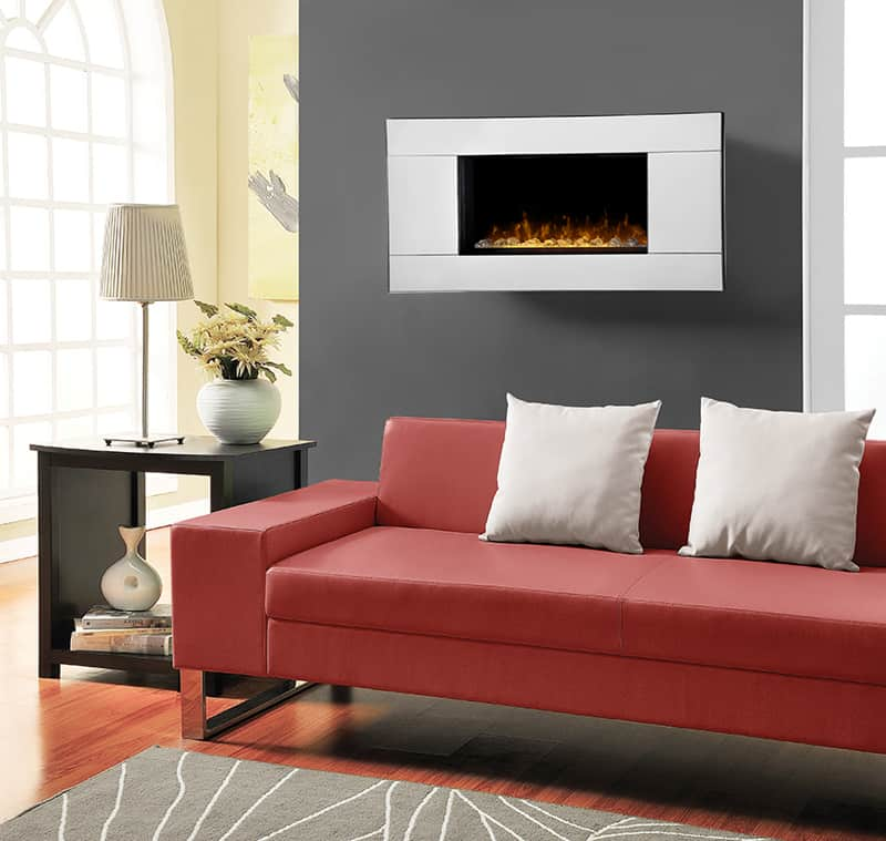 With Clean Lines And Polished Surfaces This Modern Electric Ethanol Fireplace Becomes The Focal Point Of Room Strange As It May Seem