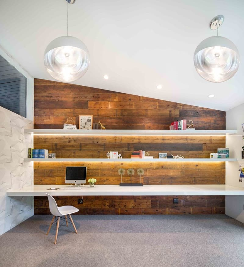 35 Modern Home Office Design Ideas: 50 Amazing Floating Shelves To Create Contemporary Wall