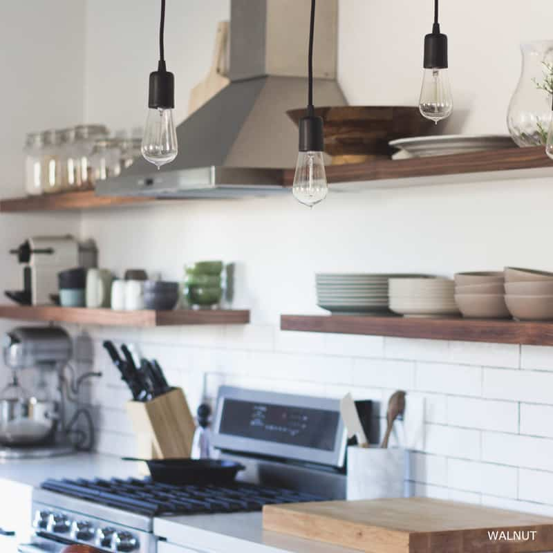 White Kitchen Floating Shelves: 50 Amazing Floating Shelves To Create Contemporary Wall
