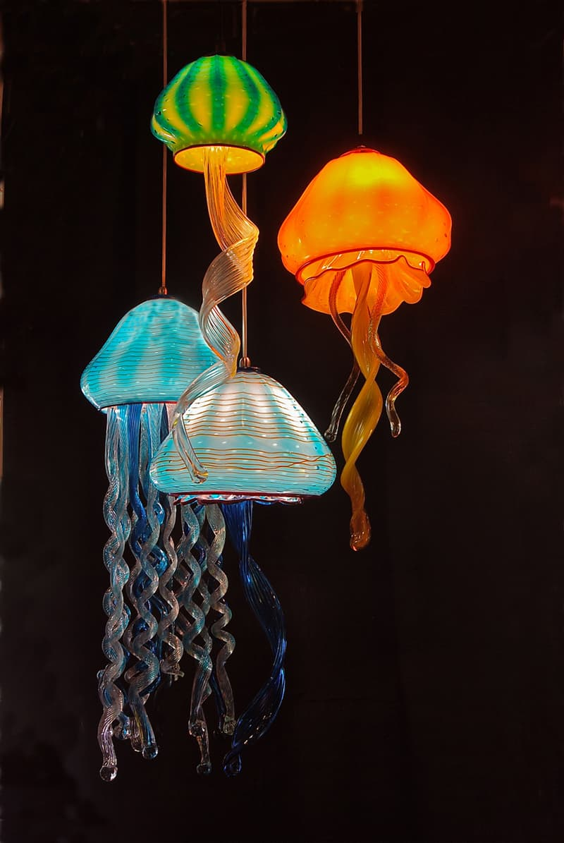 50 innovative jellyfish designs including jellyfish tank for Lamp design