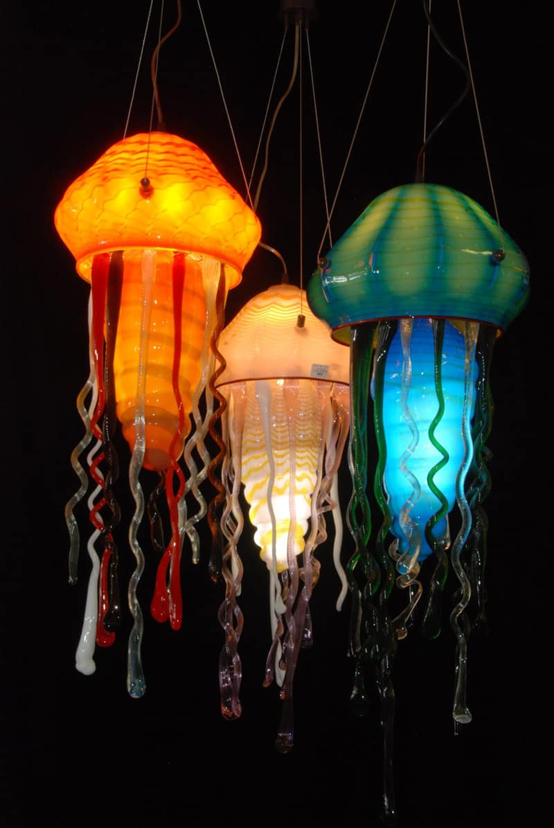 50 innovative jellyfish designs including jellyfish tank ideas and these pendant lights represent my creative approach and technique unique to strini art glass arubaitofo Image collections