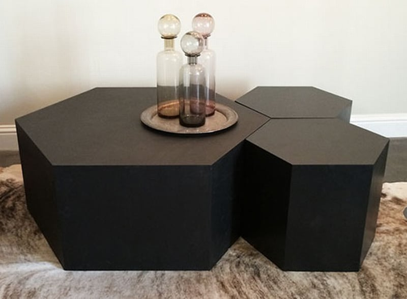 Hexagonal Coffee Table Honeycomb Table Amp Mirror Coffee