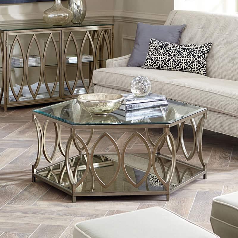 Hexagonal Coffee Table, Honeycomb Table & Mirror Coffee