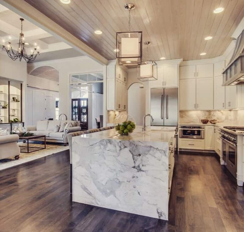 50 Examples Of Marble Kitchen Speak About High End Tastes