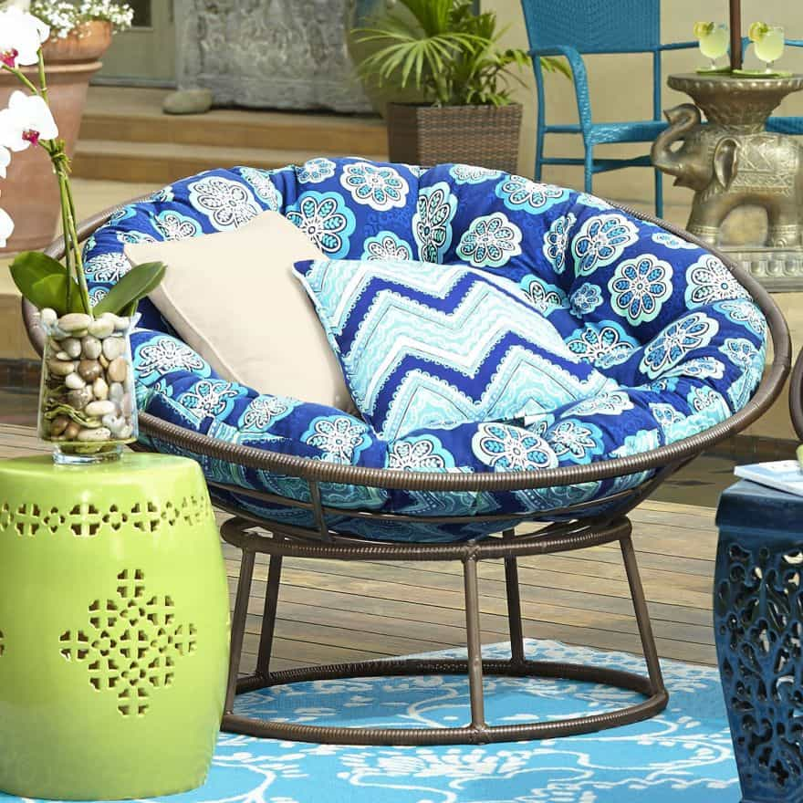 outdoor papasan chairs
