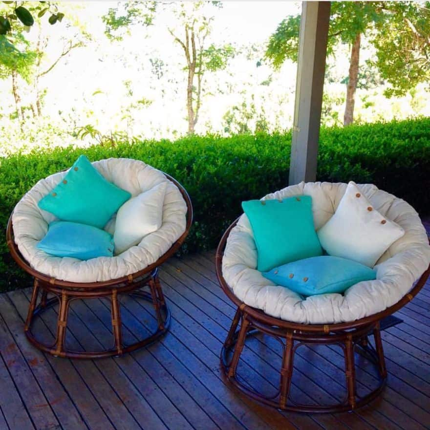 Ideal outdoor papasan chair