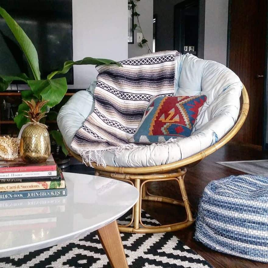 traditional papasan chair