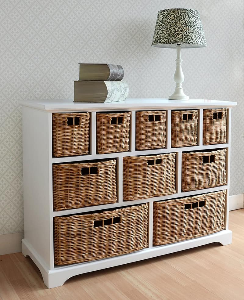Relatively Wicker Baskets Used As Extra Storage In The Small Spaces TB56