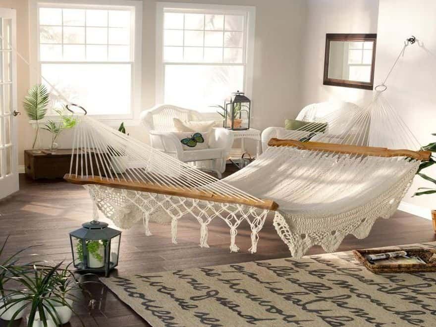 Living Room Hammock : 15 of the Most Beautiful Indoor Hammock Beds Decor Ideas