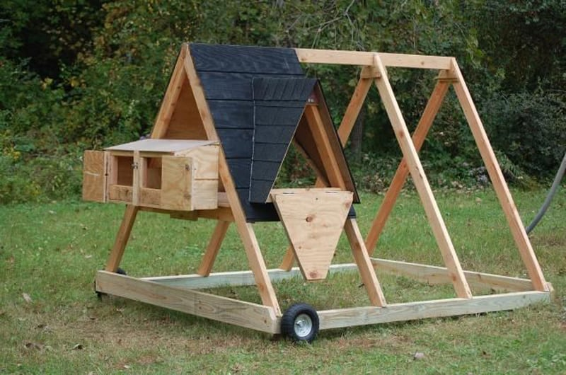 photo source - A Frame Chicken House Plans