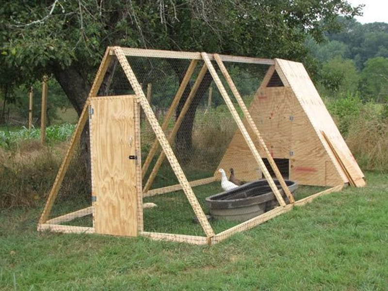 15 creative modern a frame chicken coop designs for Chicken and duck coop