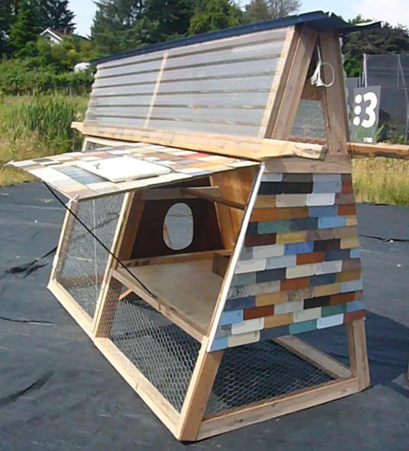 A Frame Chicken Coop Plans : Creative modern a frame chicken coop designs