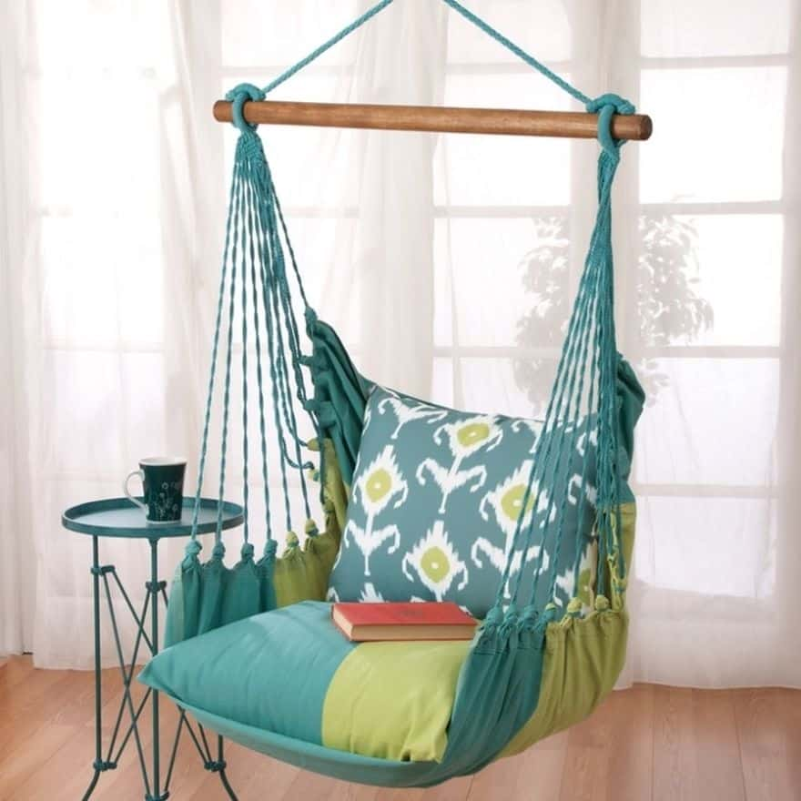 15 of the most beautiful indoor hammock beds decor ideas for How to build a swing chair
