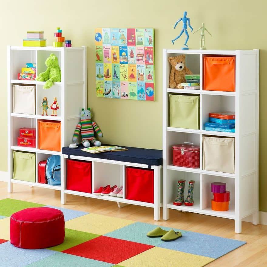 storage for toys - cube shelves