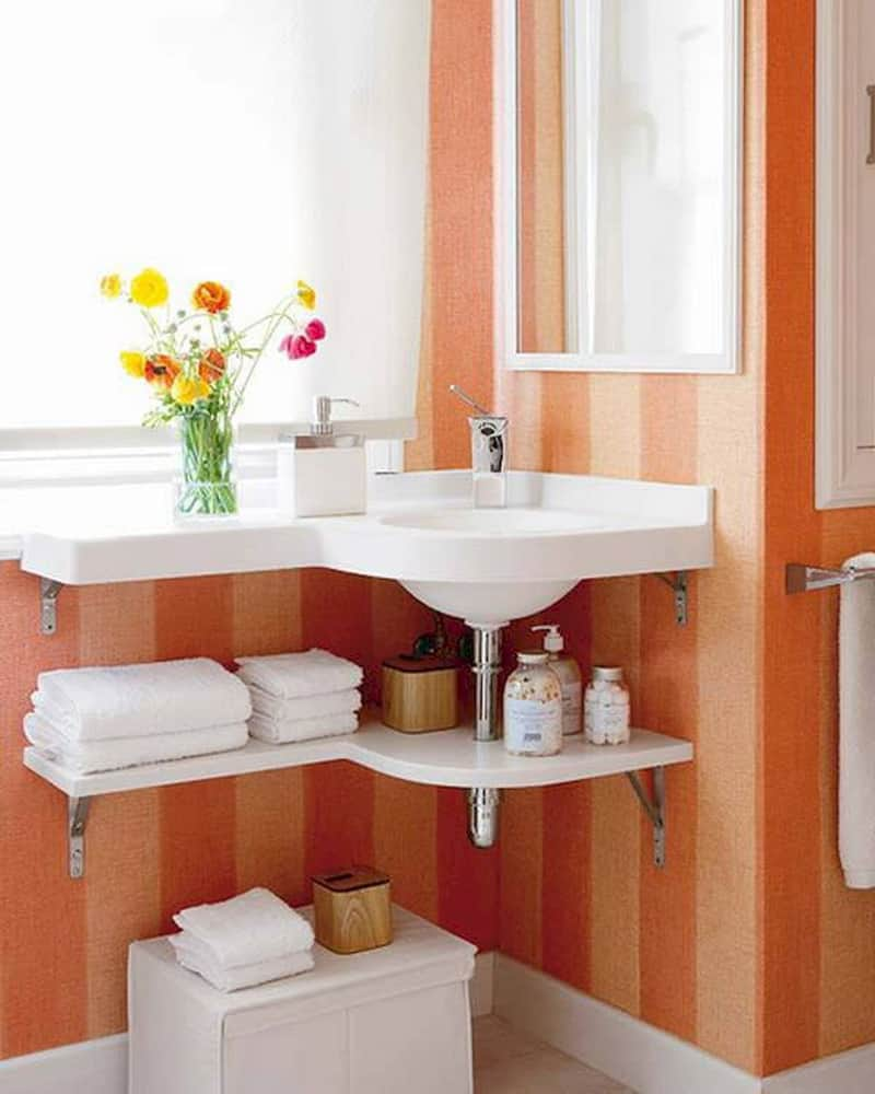 Good  also serve us while sitting on top a closet cabinet Thus you can easily access it without bending and save a large amount of space in the bathroom