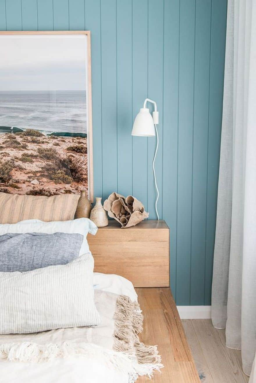 bright teal walls