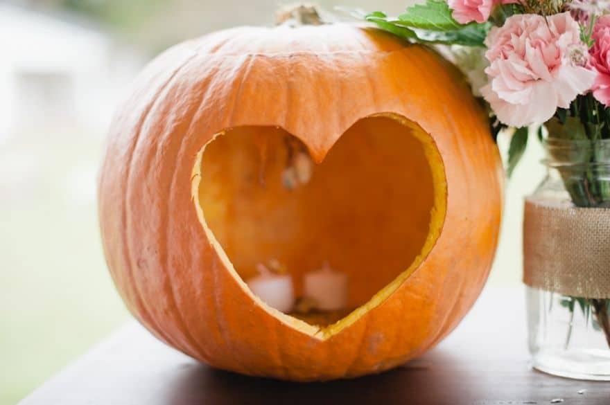 Heart Halloween Pumpkin