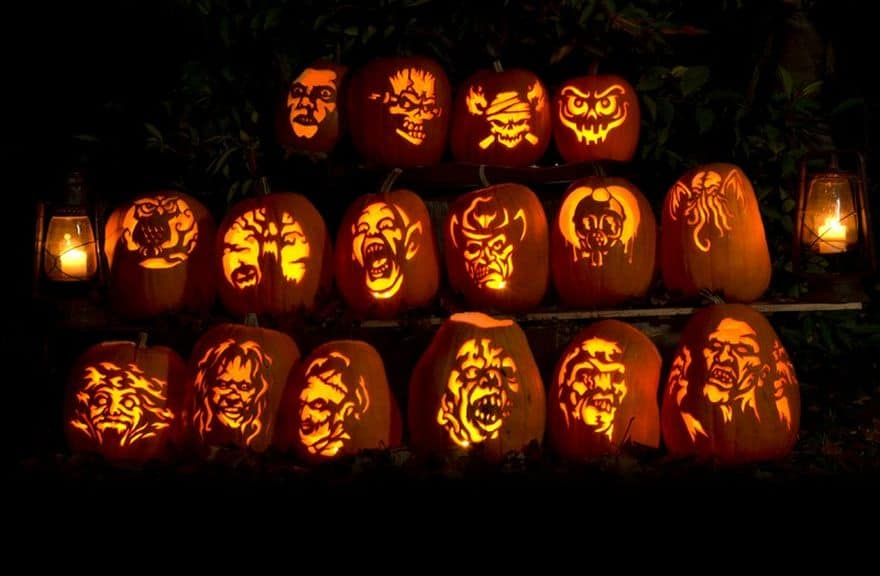 horror movies inspired pumpkins