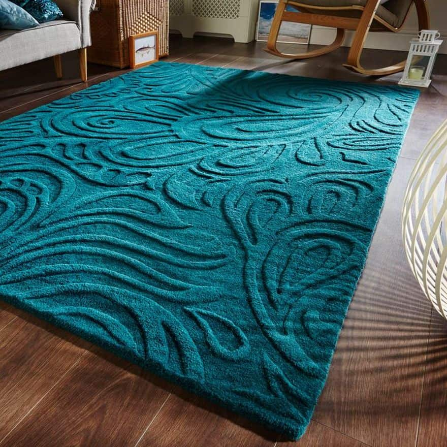 teal rug - decor inspiration