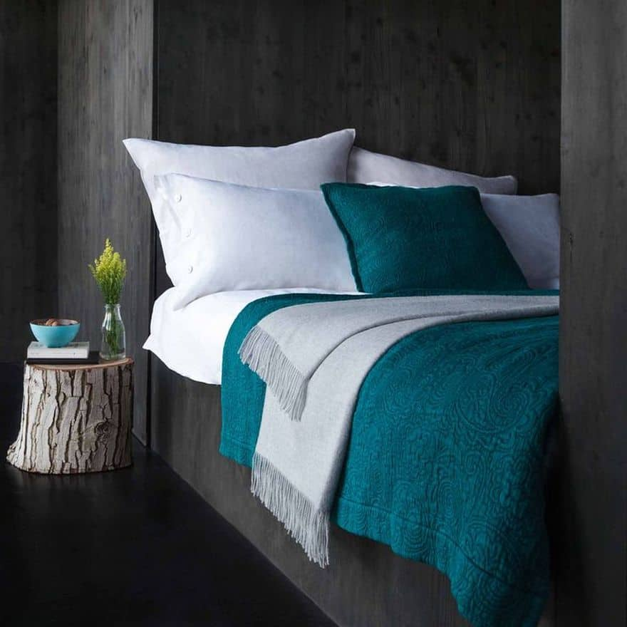teal bedding ideas