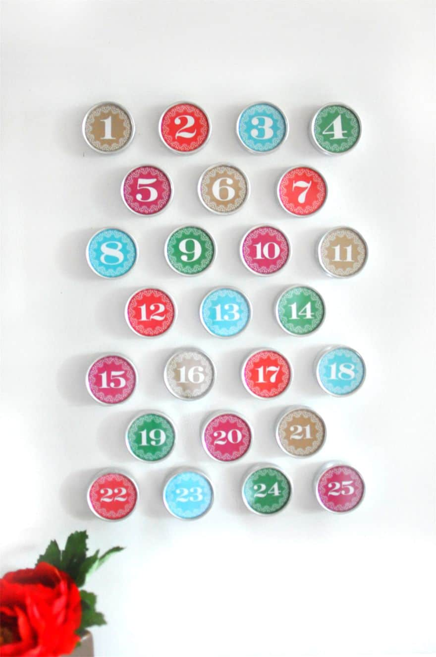 DIY magnetic advent calendars