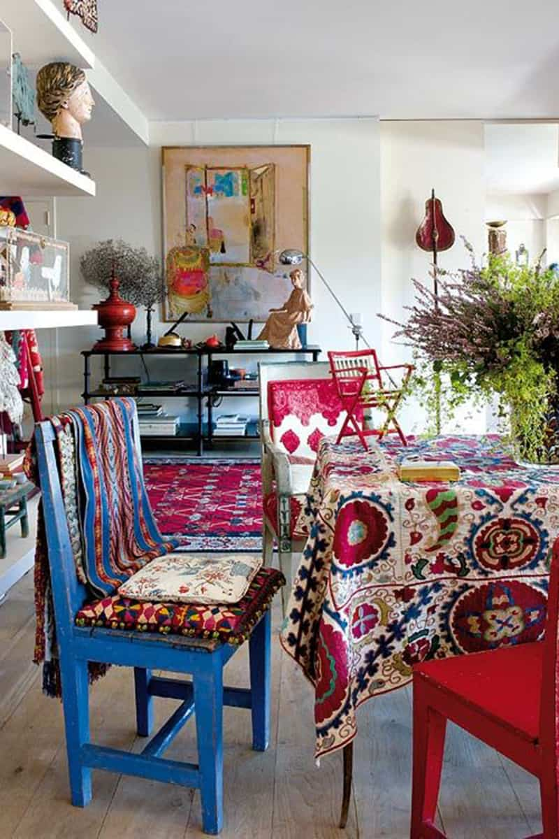 Interior design in the style of boho 69